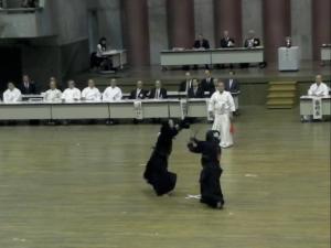 2011/9東京八段選抜剣道大会のひとこま