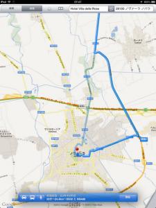iOSのマップでノヴァーラのルート検索